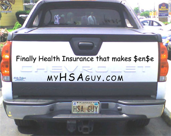 Car Signage - Finally Health Insurance that makes $en$e