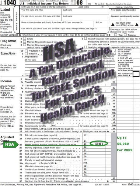 Line 25 HSA tax deduction
