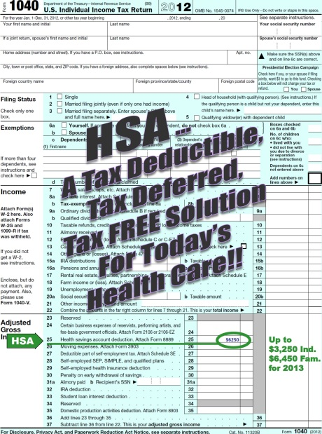 HSA Deduction Line 25